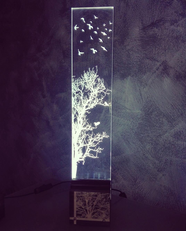 Lámpara led de metacrilato -Tema OTOÑO- (Tamaño grande)