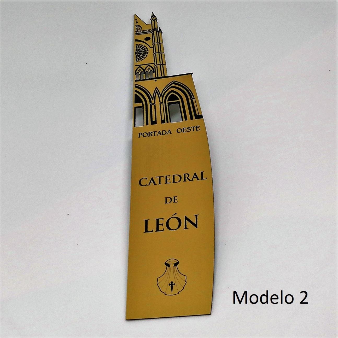 Marcapáginas Catedral de León (modelo 2)